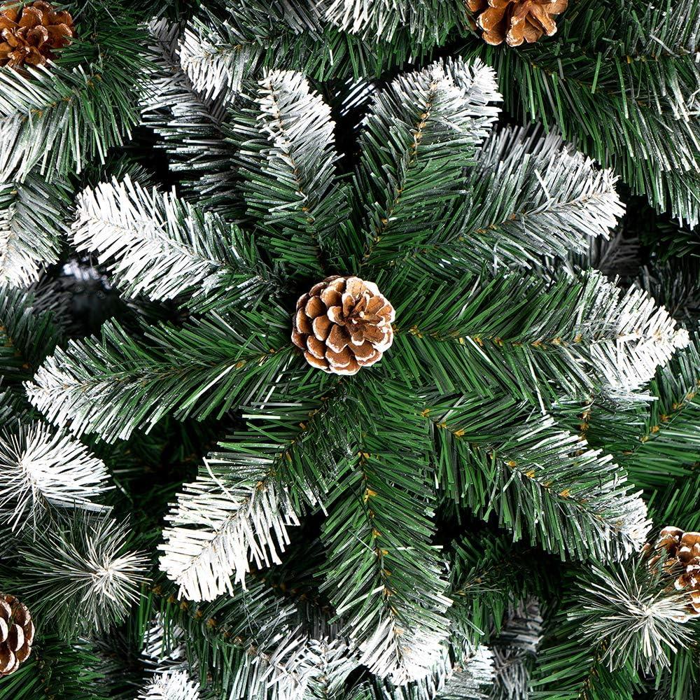 Nataland Albero di Natale Artificiale Verde Innevato con Pigne Abete Super Folto con Effetto Realistico e Rami con Aghi Anticaduta 240 Cm, Alaska Modello Alaska Altezza 240 Cm