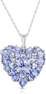 4Cttw Heart Shape Pendant Necklace