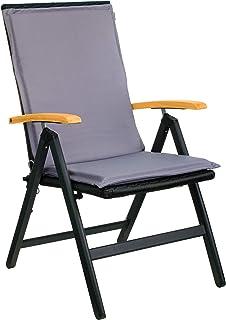 Brandsseller Coussin pour chaise de jardin à dossier haut Gris clair 50 x 110 cm
