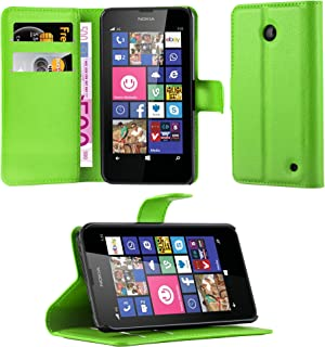 Cadorabo Book Case Works with Nokia Lumia 630/635 in Mint Green – with Magnetic Closure, Stand Function and Card Slot – Wallet Etui Cover Pouch PU Leather Flip