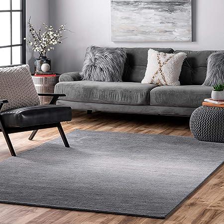 Amazon Com Nuloom Daza Hand Tufted Wool Area Rug 4 X 6 Grey Furniture Decor