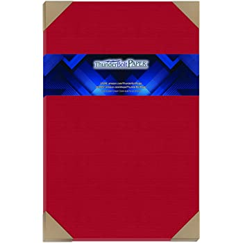 Amazon Com 25 Bright Apple Red Cardstock 65lb Cover Paper 11 X 17 Colored Sheets Tabloid Or Ledger Size Bright Colors By Thunderbolt Paper Office Products
