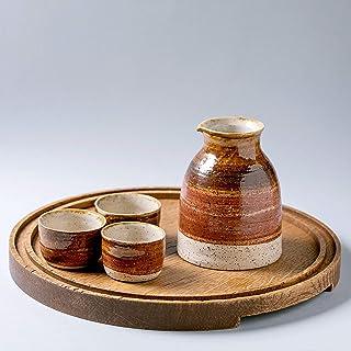 Juego de sake hecho a mano Juego de 5 piezas de sake Tazas de sake pequeñas japonesas Juego de sake clásico de cerámica Ju...