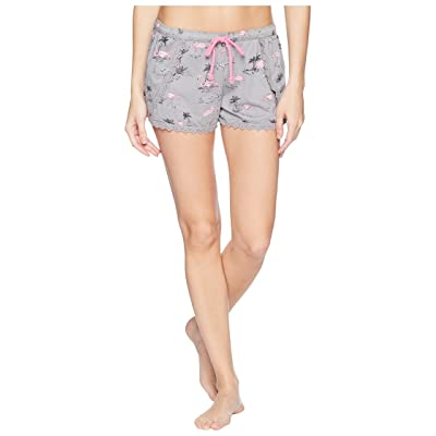 P.J. Salvage Playful Prints Flamingo Shorts (Grey) Women