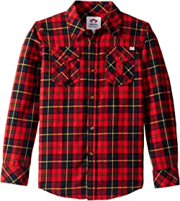 Extra Soft Flannel Shirt with Elbow Detail (Toddler/Little Kids/Big Kids)