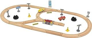 Disney KIDKRAFT Pixar Cars 3 Build Your Own 55 Piece Wooden Racetrack