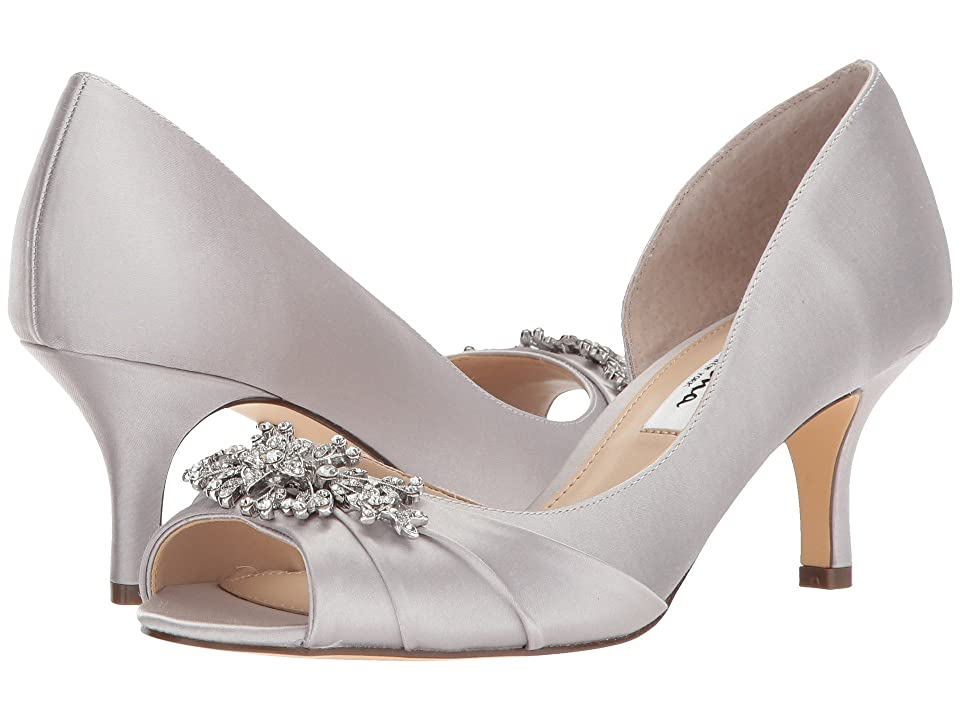 Nina Cyrene (Silver Crystal Satin) High Heels