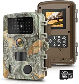 Trail Game Camera 20MP 1080P with 32GB SD Card,...