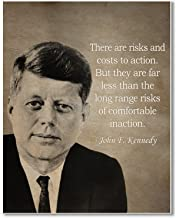 Gabby's Choice John F Kennedy There are risks and costs to action Art print - 11 x 14 Unframed Wall Art Print - Great inspirational quote