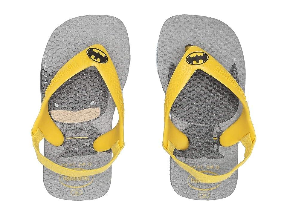 Havaianas Kids Baby Heroes Flip-Flop (Toddler) (Steel Grey) Boys Shoes
