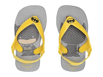 Havaianas Kids Baby Heroes Flip-Flop (Toddler) (Steel Grey) Boys Shoes