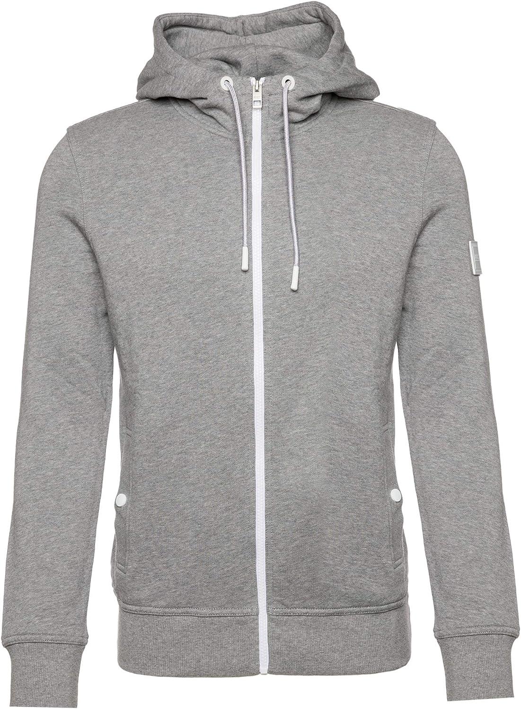 BOSS Hugo Zounds Cotton Zip Up Grey Hoodie L