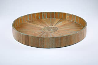 Kenchuto Antique Rustic Teak Wood Tray, 24