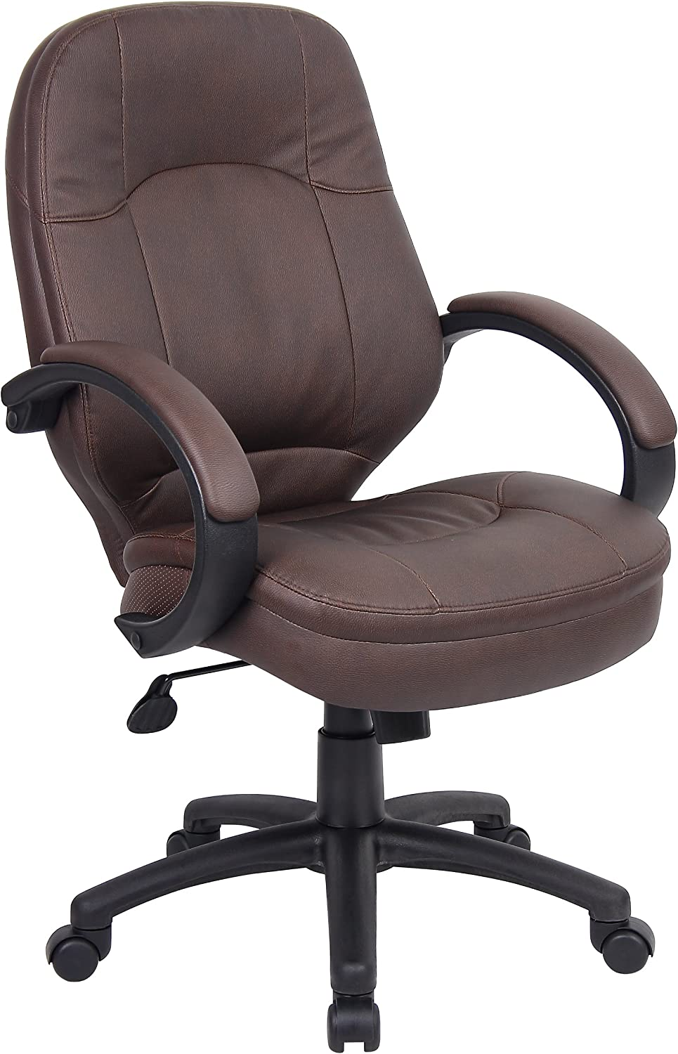 Boss Office Products B726-BB LeatherPlus Executive Chair in Bomber Brown