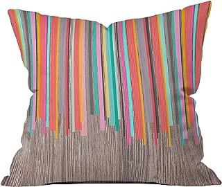 Deny Designs Iveta Abolina Stripe Happy Throw Pillow, Medium/18 x 18