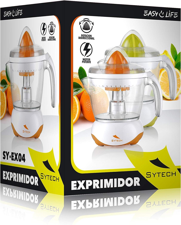 25 W Sytech SY-EX04 Spremiagrumi da 700 ml rotazione 2 vie colore arancione