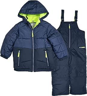 Carter's Boys 4-7 Snowsuit Heavy Winter Jacket and Snow Bib Pants Mittens Gloves
