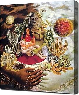 Frida Kahlo - Loves Embrace of The Universe Framed Canvas Art Print Reproduction
