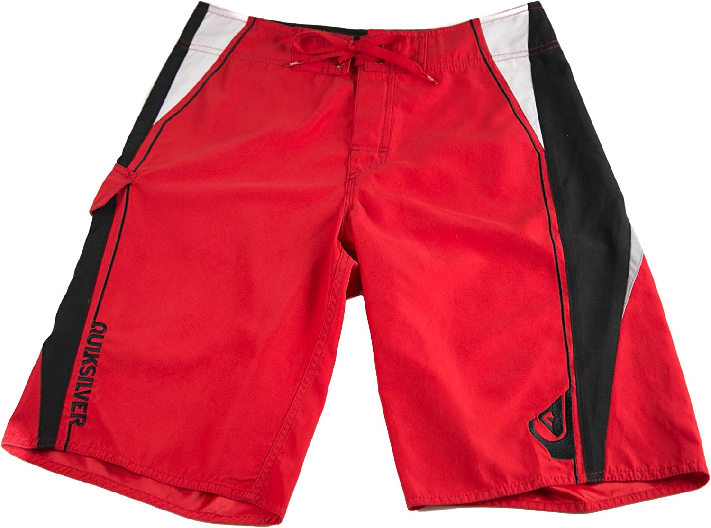 Quiksilver Mens Pig Dog 22 Fashion Board Shorts Red Black White
