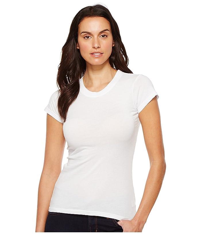 LAmade Short Sleeve Crew Tee (White) Women's T Shirt