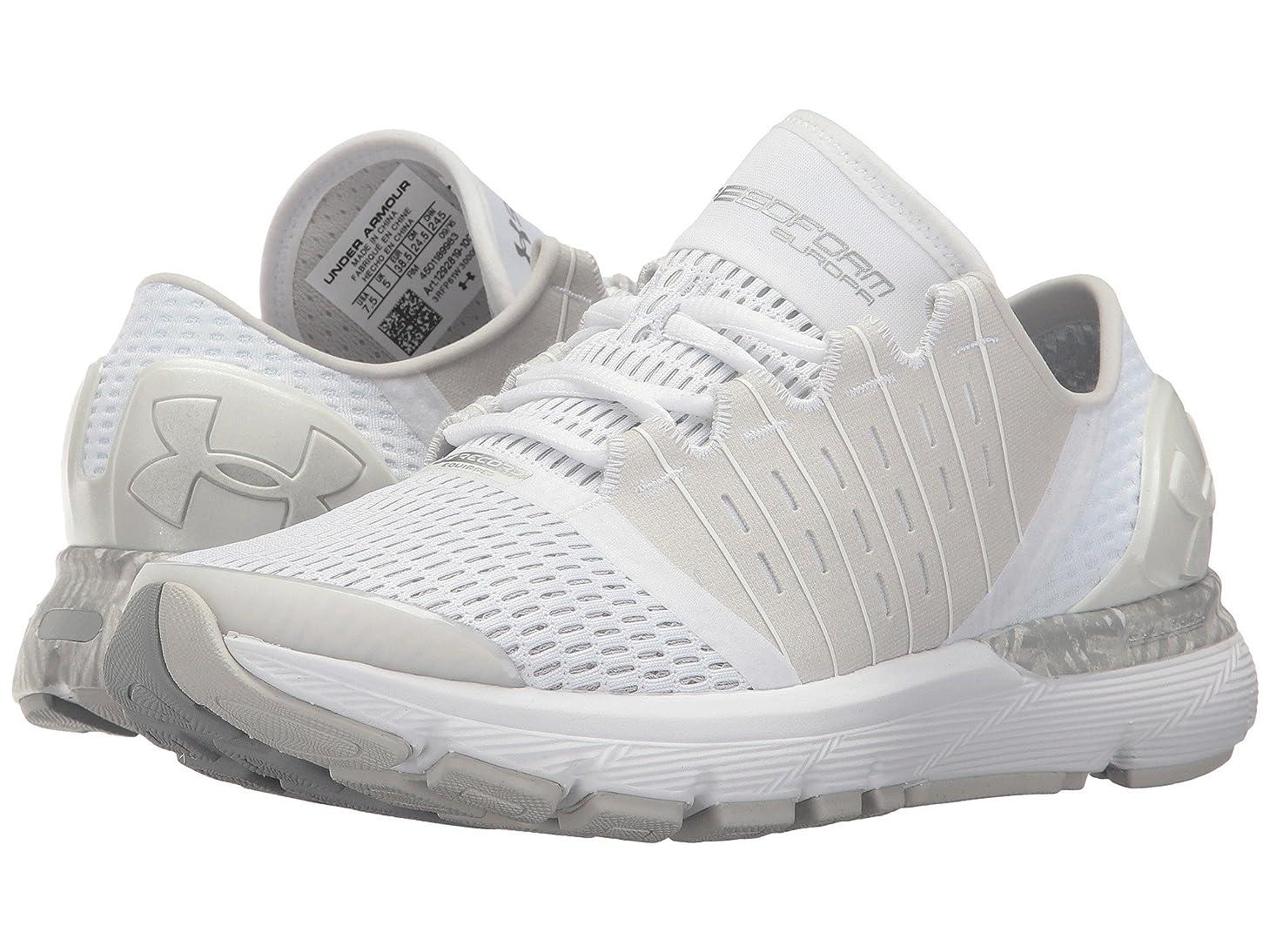 ビームスリラーたらい(アンダーアーマー) UNDER ARMOUR レディースランニングシューズ?スニーカー?靴 Speedform Europa City RE White/Glacier Grey/White 7 (24cm) B - Medium