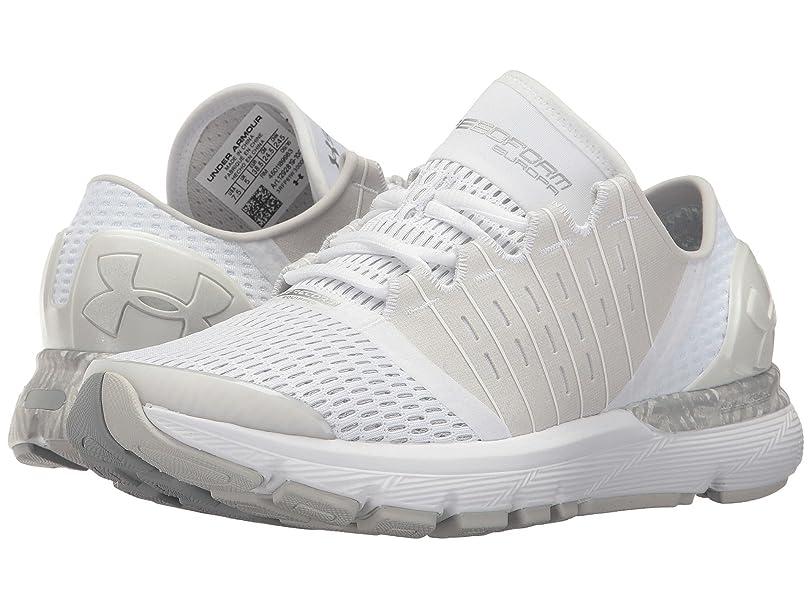 動かないバイアス下に(アンダーアーマー) UNDER ARMOUR レディースランニングシューズ?スニーカー?靴 Speedform Europa City RE White/Glacier Grey/White 5 (22cm) B - Medium