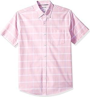Amazon Essentials Hombre Camisa Oxford con bolsillo de manga corta y ajuste normal
