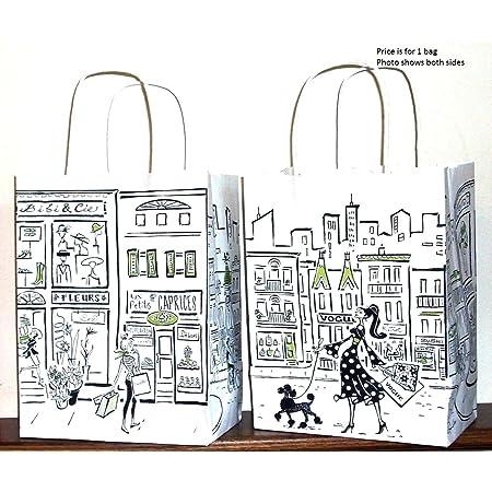 Paris Gift Bag Paris Treat Bags Eiffel Tower Kraft Paper Favor Bags 10