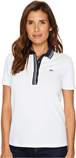 Lacoste - Short Sleeve Semi Fancy Super Light Stretch Polo