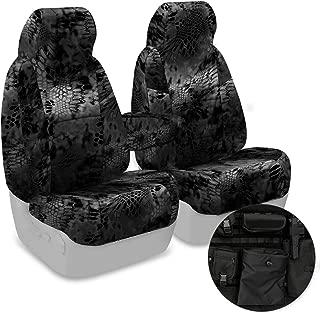 Coverking Front 50/50 Bucket Custom Fit Tactical Seat Cover for Select Chevrolet Silverado Models - Cordura Ballistic (Kryptek Typhon Camo)