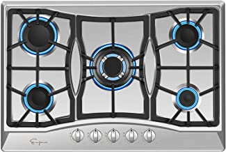 Empava 30 in. Gas Stove Cooktop with 5 3rd Gen Italy Sabaf Sealed Burners in Stainless..