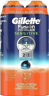 ژل اصلاح Gillette Fusion ProGlide 2 در 1 ، حساس ، Twin Pack 12 اونس