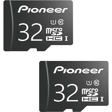 Pioneer 32GB microSD Classic with Adapter - C10, U1, Full HD Memory Card (2 Pack)