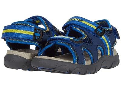 Geox Kids Sandal Strada 19 (Toddler/Little Kid) (Blue/Yellow) Boy