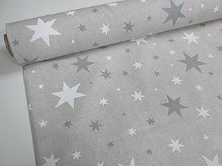 comprar comparacion Confección Saymi Metraje 0,50 MTS Tejido loneta Estampada Ref. Estrella Gris, con Ancho 2,80 MTS.