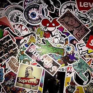 (Not Random)100 Piece Skateboard Stickers Vintage Vinyl Laptop Luggage Decals Dope Sticker Mix Lot