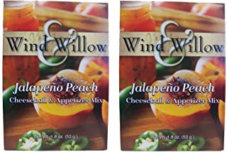 Wind & Willow Savory Jalapeno Peach Cheeseball and Dip Mix (Pack of 2)
