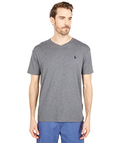 Polo Ralph Lauren Classic Fit V-Neck Tee (Fortress Grey Heather) Men