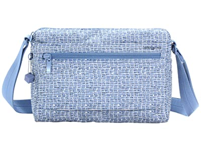 Hedgren Eye RFID Medium Shoulder Bag (Craft Blue Print) Shoulder Handbags
