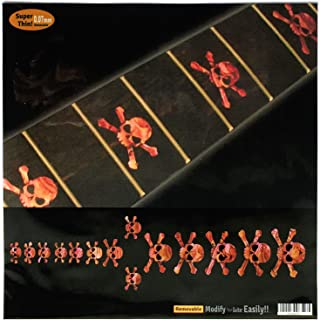 Fretboard Markers Inlay Sticker Decals for Guitar & Bass - Skull - AR