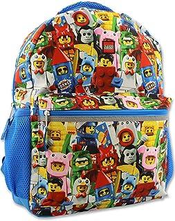 حقيبة ظهر مدرسية للأولاد والبنات مقاس 40.64 سم من ليجو Lego Minifigures قياس واحد