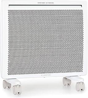 Klarstein Hot Spot Slimcurve Double Wave - Radiador 2 en 1, Convección, Infrarrojos, Temporizador, Potección sobrecalentamiento, Detección ventana abierta, Montaje pared/Móvil, Potencia 1000 W, Blanco
