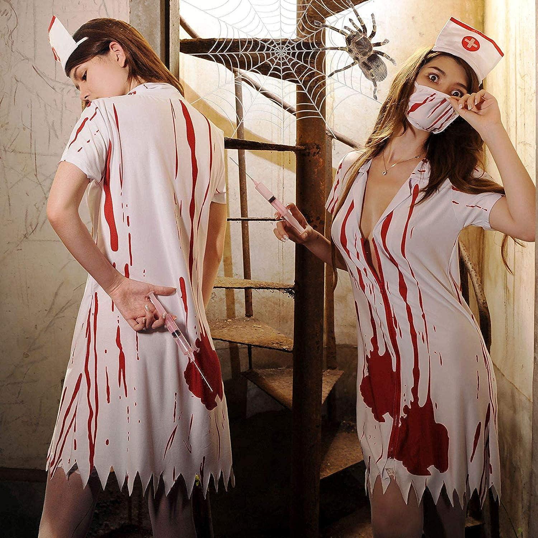 HaoLiao Cosplay Kostüm, SXXS AMPIRE weibliche Krankenschwester Kostüm Cosplay Spiel Uniform Halloween-Spaß-Wäsche-Geist-Krankenschwester 5 mit Einem einzigartigen Original-Ring FXXK Me B07NSTL3M8  Zu einem erschwinglichen Preis  | Toy