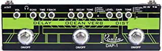 Rowin DAP-1 Guitar Multi Effect Pedal 3-In-1 Effects Delay/Ocean Verb/Distortion