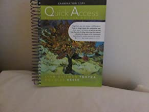 Quick Access Reference for Writers 6th Edition Examination Copy