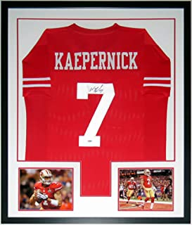 Colin Kaepernick Signed San Francisco 49'ers Jersey - PSA DNA COA Authenticated - Professionally Framed & 2 Super Bowl 8x10 Photo 34x42