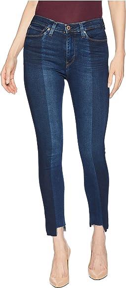 Barbara High-Waist Crop Step Hem Skinny Jeans in Lost