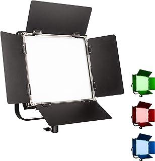 Walimex pro Rainbow LED RGB rechthoekige lamp 100W - vlaklamp met wit en gekleurd licht, 16 miljoen kleuren