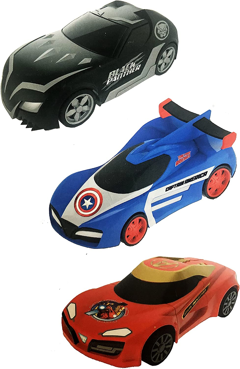 Avengers Inventory cleanup selling sale Super-cheap Friction Cars 5 Inch Spiderman Iron Vehicles Captai Man