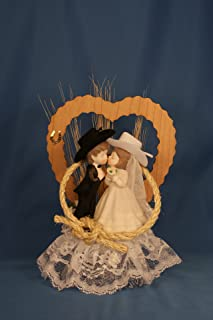 Tied To Your Heart Western Wedding Cake Topper